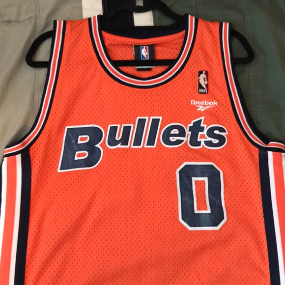 buy popular c1c28 a8ab2 Gilbert Arenas vintage Washington Bullets Jersey